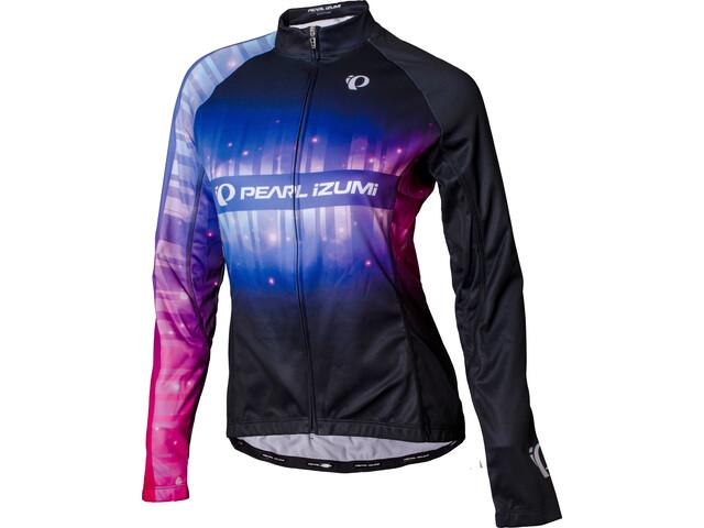 PEARL iZUMi Elite LTD Thermo Langarm Jersey Damen stripes black